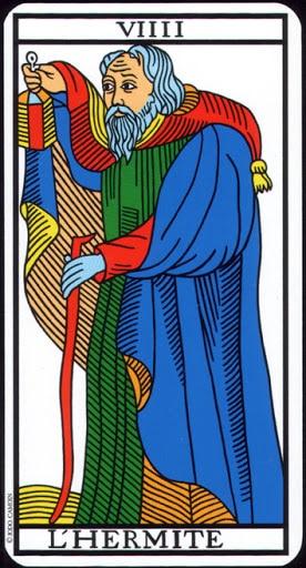 Ý nghĩa lá VIIII - The Hermit trong bộ Tarot of  Marseilles