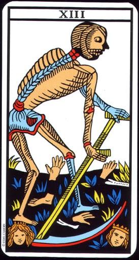 Lá XIII. Death – Tarot of  Marseilles