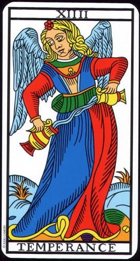 Ý nghĩa lá XIIII - Temperance trong bộ Tarot of  Marseilles