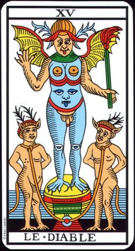 Lá XV. The Devil – Tarot of  Marseilles