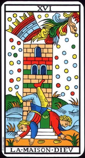Lá XVI. The Tower – Tarot of  Marseilles