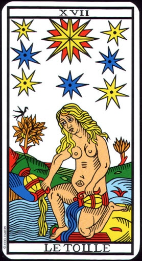 Lá XVII. The Star – Tarot of  Marseilles