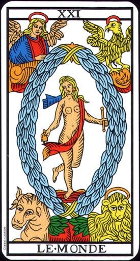 Lá XXI. The World – Tarot of  Marseilles