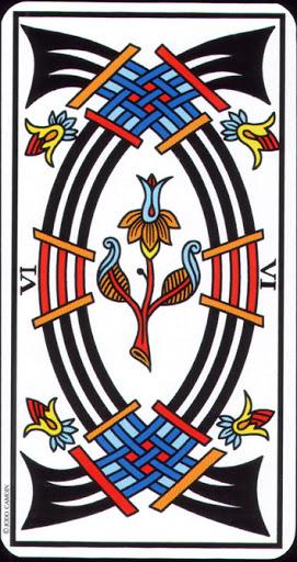 Ý nghĩa lá 6 of Swords trong bộ Tarot of Marseilles