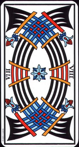 Ý nghĩa lá 8 of Swords trong bộ Tarot of Marseilles