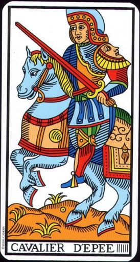 Lá Knight of Swords – Tarot of Marseilles