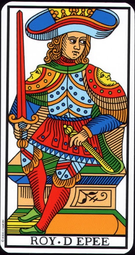 Lá King of Swords – Tarot of Marseilles