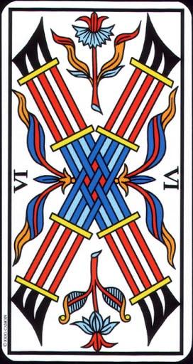 Ý nghĩa lá 6 of Wands trong bộ Tarot of Marseilles