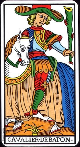 Ý nghĩa lá Knight of Wands trong bộ Tarot of Marseilles