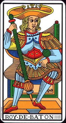 Lá King of Wands – Tarot of Marseilles