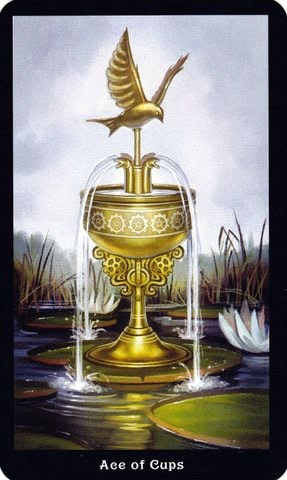 Ý nghĩa lá Ace of Cups trong bộ Steampunk Tarot