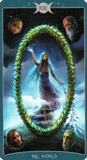 Ý nghĩa lá XXI. The World trong bộ Book of Shadows Tarot - As Above