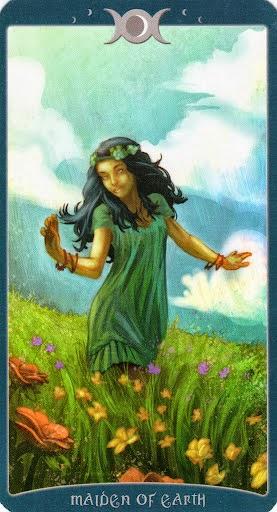 Ý nghĩa lá Maiden of Earth trong bộ Book of Shadows Tarot - As Above