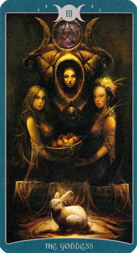 Lá III. The Goddess trong bộ Book of Shadows Tarot - As Above