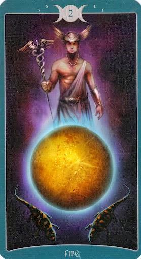 Ý nghĩa lá 2 of Fire trong bộ Book of Shadows Tarot - As Above