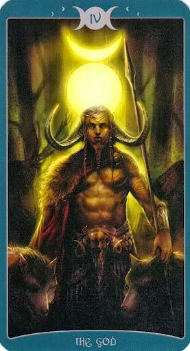 Lá IV. The God trong bộ Book of Shadows Tarot - As Above
