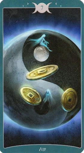 Ý nghĩa lá 7 of Air trong bộ Book of Shadows Tarot - As Above