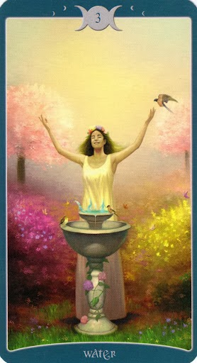 Ý nghĩa lá 3 of Water trong bộ Book of Shadows Tarot - As Above