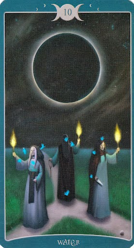 Ý nghĩa lá 10 of Water trong bộ Book of Shadows Tarot - As Above