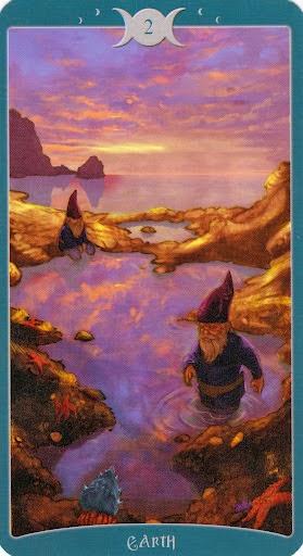 Ý nghĩa lá 2 of Earth trong bộ Book of Shadows Tarot - As Above