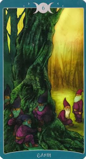 Ý nghĩa lá 6 of Earth trong bộ Book of Shadows Tarot - As Above