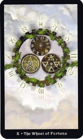 Ý nghĩa lá X - The Wheel of Fortune trong bộ Steampunk Tarot