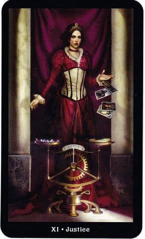 Ý nghĩa lá XI - Justice trong bộ Steampunk Tarot