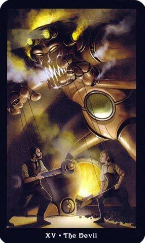 Ý nghĩa lá XV - The Devil trong bộ Steampunk Tarot