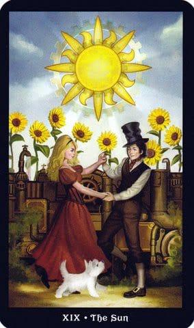 Ý nghĩa lá XIX - The Sun trong bộ Steampunk Tarot