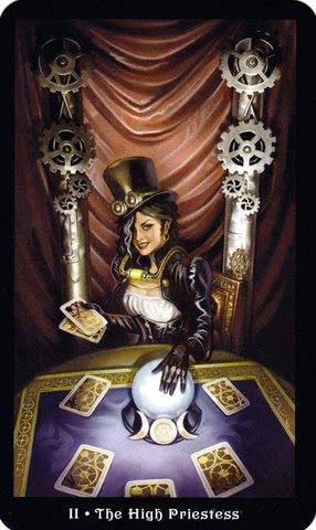 Ý nghĩa lá II - The High Priestess trong bộ Steampunk Tarot