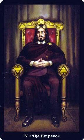 Ý nghĩa lá IV - The Emperor trong bộ Steampunk Tarot