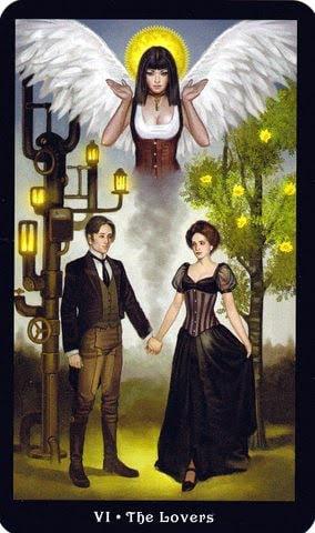 Ý nghĩa lá VI - The Lovers trong bộ Steampunk Tarot