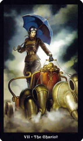 Ý nghĩa lá VII - The Chariot trong bộ Steampunk Tarot