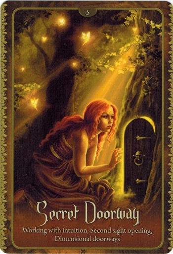 Ý nghĩa lá Secret Doorway trong bộ Wild Wisdom of The Faery Oracle