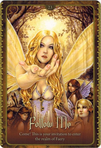 Ý nghĩa lá Follow Me trong bộ Wild Wisdom of The Faery Oracle