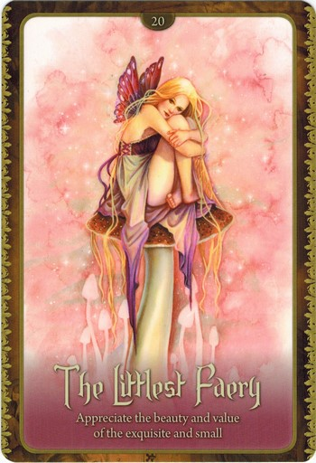 Ý nghĩa lá The Littlest Faery trong bộ Wild Wisdom of The Faery Oracle