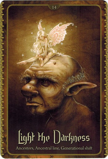 Ý nghĩa lá Light The Darkness trong bộ Wild Wisdom of The Faery Oracle
