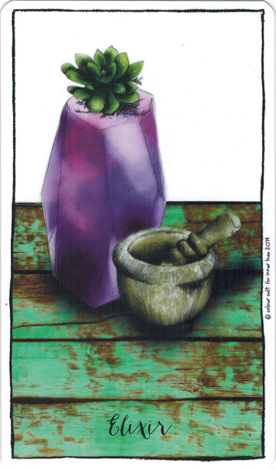 Ý nghĩa lá Elixir trong bộ bài Connected & Free - The Alchemist's Oracle