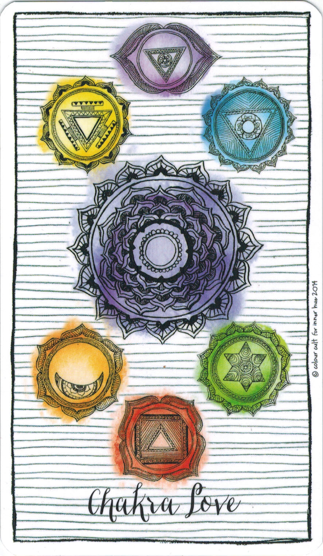 Ý nghĩa lá Chakra Love trong bộ bài Connected & Free - The Alchemist's Oracle