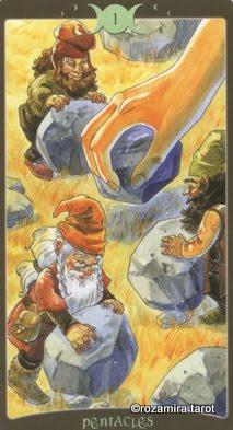 Ý nghĩa lá Ace of Pentacles trong bộ Book of Shadows Tarot - So Below