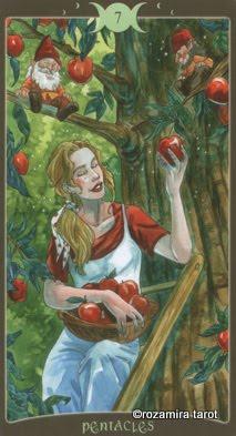 Ý nghĩa lá 7 of Pentacles trong bộ Book of Shadows Tarot - So Below