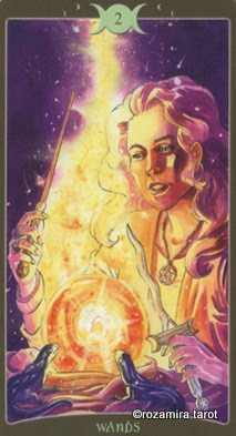 Ý nghĩa lá 2 of Wands trong bộ Book of Shadows Tarot - So Below