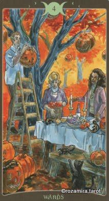 Ý nghĩa lá 4 of Wands trong bộ Book of Shadows Tarot - So Below