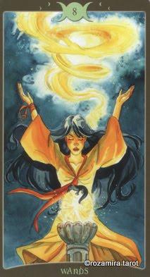 Lá 8 of Wands – Book of Shadows Tarot (So Below)