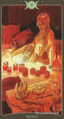 Ý nghĩa lá 9 of Wands trong bộ Book of Shadows Tarot - So Below
