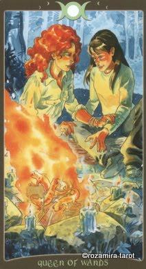Lá Queen of Wands – Book of Shadows Tarot (So Below)