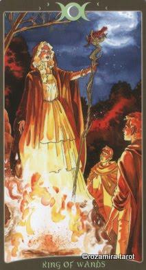 Ý nghĩa lá King of Wands trong bộ Book of Shadows Tarot - So Below