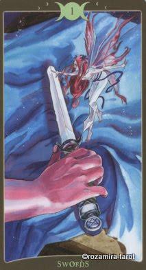 Ý nghĩa lá Ace of Swords trong bộ Book of Shadows Tarot - So Below