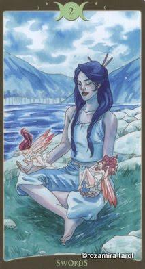 Ý nghĩa lá 2 of Swords trong bộ Book of Shadows Tarot - So Below