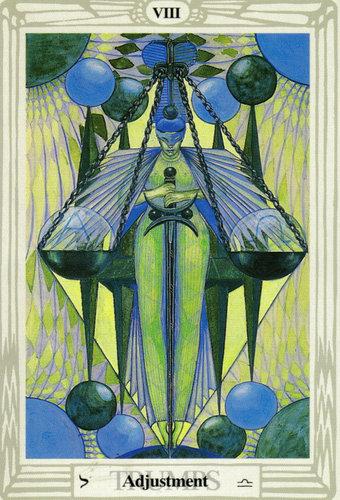Ý nghĩa lá Adjustment trong bộ bài Thoth Tarot